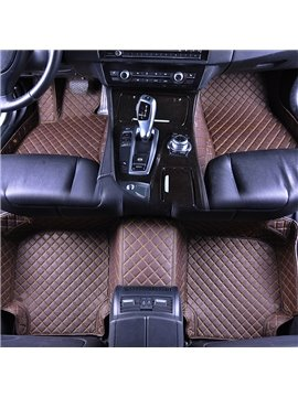 Car Floor Mats High Quality Durable PU Leather Moisture-Proof Skid Resistance Waterproof Wear-Resisting Custom Fit Floor Mats Most Cars Are Suitable If You Do Not Find Your Car Please Note In The Shopping Cart
