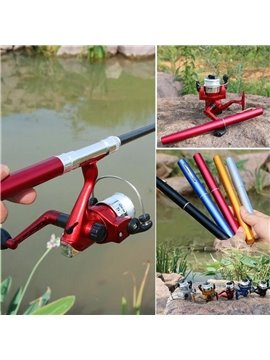 Fishing Rods [Pen Type Fishing Rod Spinning Wheel Type Fishing Wheel 2-Piece Set] Portable Pocket Ice Fishing Rod Sea Fishing Gear