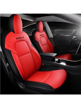 Tesla Car Seat Cover PU Leather Cover All Season Protection Wear Resistant Dirt Resistant and Durable Easy to Install and Clean for Tesla Model 3
