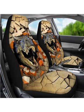 2 Pieces Wearproof Dirt-proof Easy to Clean Front Single Car Seat Covers Animal Summer Cooling Four Seasons Car Seat Covers for Front Two Seats Comes with 2 Pieces - Honeycomb Cloth