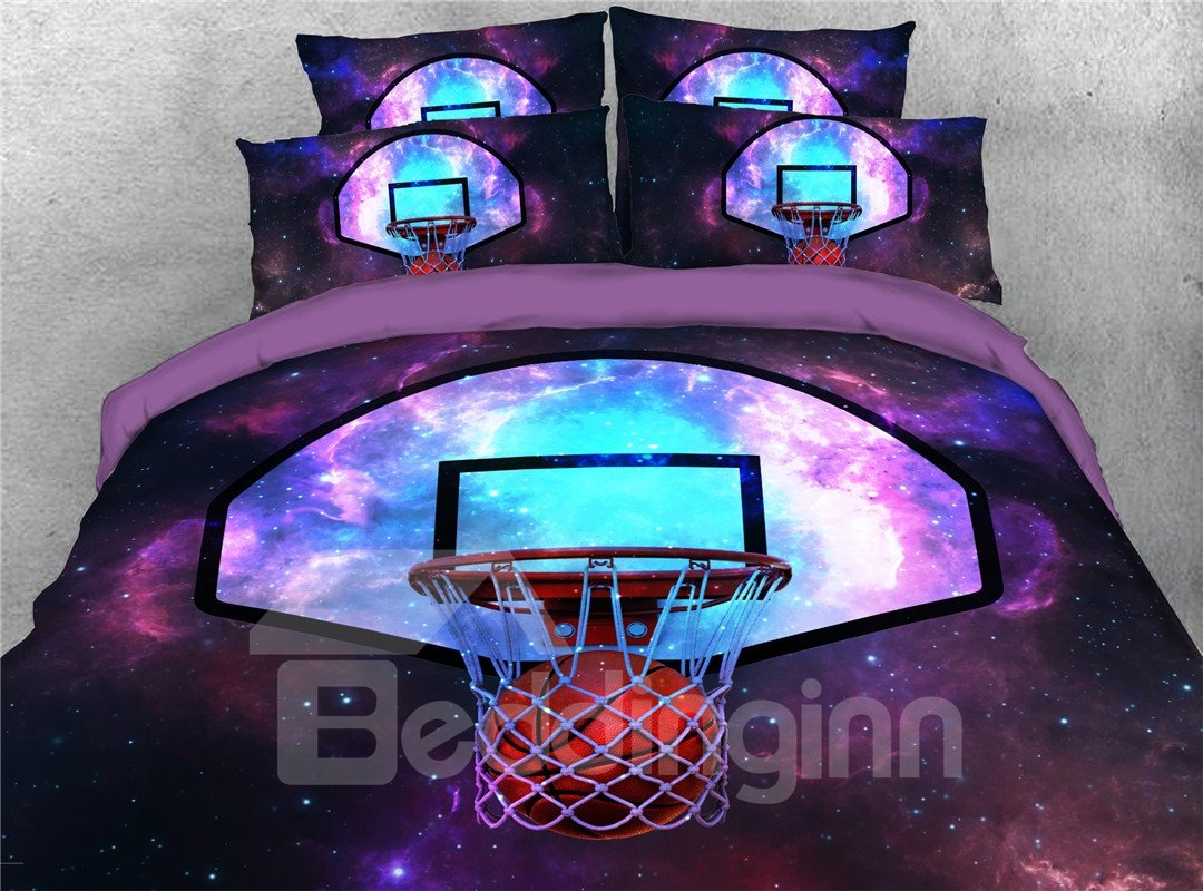 Basketball Comforter Set Five-Piece Set Machine Wash Polyester Bedding Sets Hassle-free Hidden Zipper Closure Basketball Comforter Set Five-Piece Set Machine Wash Polyester Bedding Sets Hassle-free Hidden Zipper Closure