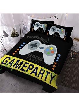 Game Comforter Set Machine Wash Reactive Printing Three-Piece Set Polyester Bedding Sets