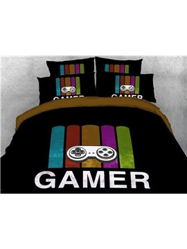 Gamer Hand Wash Four-Piece Set Duvet Cover Set Polyester Bedding Sets 2 Pillowcases