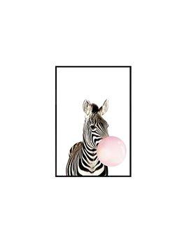 Bubbling Zebra Spray Painting Animal Modern Calligraphy/Painting