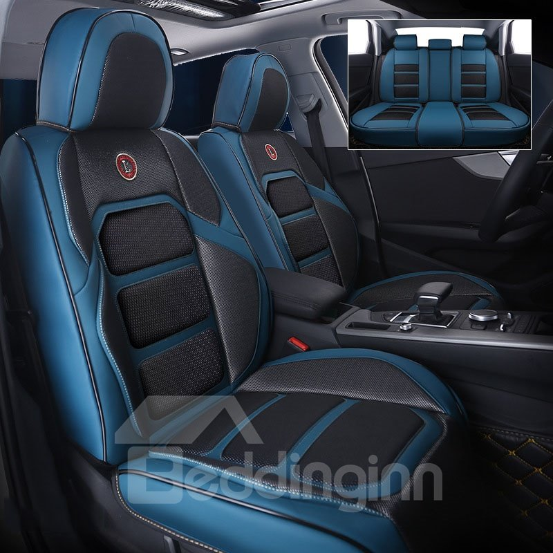 Car Seat Covers 5 Seats Car Seat Covers Full Coverage With Waterproof Leather Wear-resistant Dirty-resistant Universal Fit Seat Covers