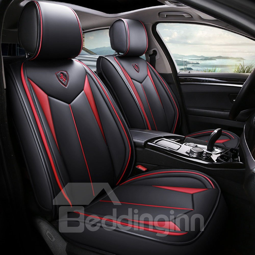 Pu Business Seat Cover 5 Seats Universal Fit Seat Covers Full Coverage With Waterproof Leather Wear-resistant Dirty-resistant Universal Fit Seat Covers