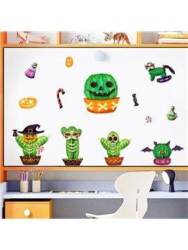 Halloween Cactus Cartoon Creative Wall Stickers / Wall Decorations
