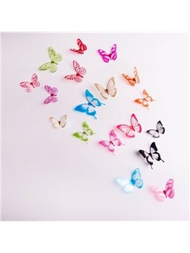 Butterfly Creative Butterfly Wall Stickers / Wall Decorations PVC Self-stick