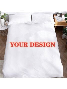 Custom Duvet Cover Set Personalized Black Duvet Cover with 2 Pillow Cases Customized Bedding 3Pcs Set with Photo Tabby Polyester