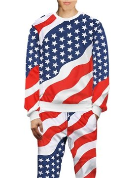 The Old Glory American Flag 3D Printed Hoodie Sweatshirts Sweatpants Tracksuits Streetwear Sets Casual Print Spring Fall Men's Outfit