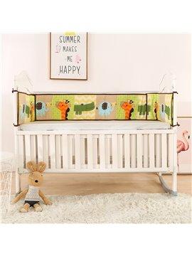 Cute Animals and Giraffe Elephant Printed 4 Baby Crib Bumpers