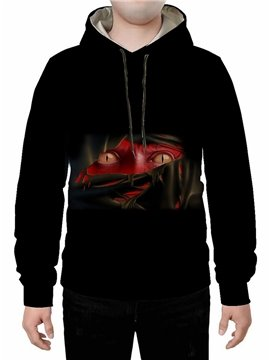 Long Sleeve Black 3D Print Halloween Hoodie Sweatshirts Sweatpants Tracksuits Streetwear Sets Casual Print Spring Fall Winter Men's Outfit