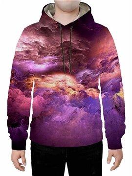 Long Sleeve 3D Universe Printed Hoodie Sweatshirts Sweatpants Tracksuits Streetwear Sets Casual Print Spring Fall Winter Men's Outfit