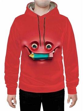 3D Red Creative Cartoon Meme Printed Hoodie Sweatshirts Sweatpants Tracksuits Streetwear Sets Casual Print Spring Fall Winter Men's Outfit