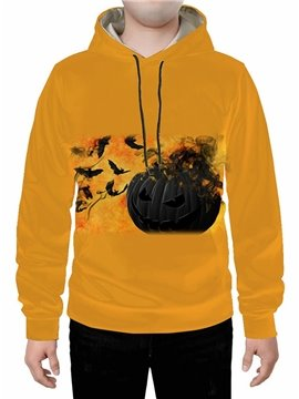 Yellow 3D Creative Halloween Hoodie Sweatshirts Sweatpants Tracksuits Streetwear Sets Casual Print Spring Fall Winter Men's Outfit