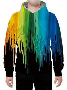 3D Colourful Splash-ink Printed Hoodie Sweatshirts Sweatpants Tracksuits Streetwear Sets Casual Print Spring Fall Winter Men's Outfit