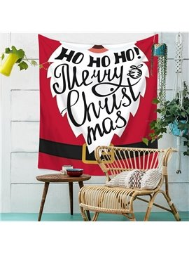 Merry Christmas Santa Pattern Tapestry Wall Hanging Happy New Year Wall Wall Art Decoration for Bedroom Living Room Dorm