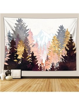 Forest Tree  Mountain Sunset Tapestry Nature Landscape Tapestry Wall Hanging for Bedroom Dorm Living Room Home Decor