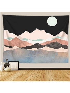 Mountain Moon Tapestry Nature Landscape Tapestry Art Wall Hanging for Bedroom Dorm Living Room Home Decor