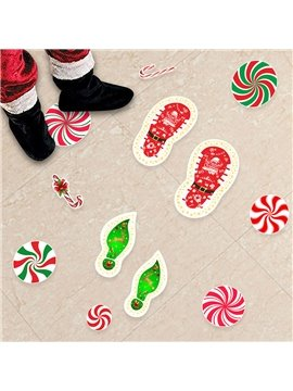 MISS FANTASY Christmas Candy Stickers Peppermint Floor Decals Christmas Wall Stickers Decals Xmas Floor Stickers for Christmas Party Decoration Christmas Candy Party Supplies
