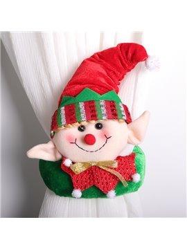 Christmas Curtain Buckle Tie Back 1 Pc Merry Christmas Cartoon Decor for Home Happy New Year