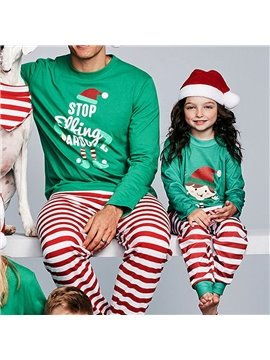 Family Matching Striped Christmas Pajamas for Boys Girls Snowman Sleepwear Kids PJs Men Women 2 Pieces Pants Set