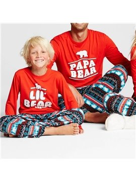Matching Family Pajamas Christmas Boys and Girls Pyjamas 2 Piece PJs for Mum and Me Skin-friendly All-Season