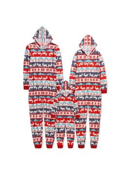 Christmas Family Matching Pajamas Set Santa's Deer Sleepwear for The Family Boys and Girls Colorfast Wear-resistant