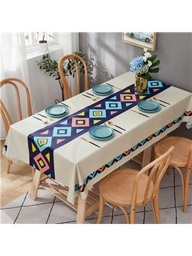 Environmental Protection PVC Material Modern Minimalist Style Waterproof and Stain Resistant No Leakage Very Easy to Clean Tablecloth