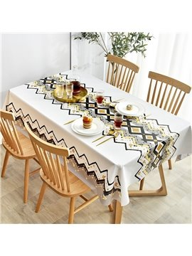 Modern Tablecloth Waterproof Scald and Oil Proof Non-washable PVC Coffee Table Mat Nordic Rectangular Household Table Cloth