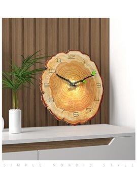 16 inch Rustic Wall Clock Handmade Real Wood Clock Beautiful Decorative Wall Clock Wall Clock Wooden Clock Rustic Clock