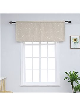 American Style Stars Window Valance Short Polyester Curtain for Kitchens Bathrooms Basements & More