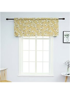 Pastoral Floral Window Valance Decorative Polyester Short Curtain for Kitchens Bathrooms Basements & More