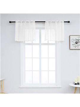 Modern Simple Solid Color Window Valance 1 Pc Sheer Voile Valance for Kitchens Bathrooms Basements & More