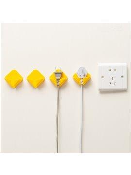 Wall Hook Sticky Plug Holder Art Décor Storage Organizer Set for Kitchen BathroomKids Room