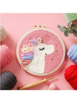 Horse Tik Tok with the Same Russian Poke Show DIY Anime Yarn Kit for Beginners Modern Handwork Cross-Stitch