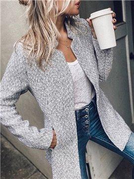 Winter Casual Long Sleeve Mid-Length Women's Coat