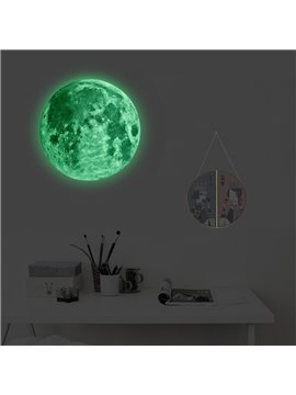 Glow in the Dark Moon Wall Art Stickers Night Light Glowing Wall Decal with Removable Adhesive for Boy and Girl Bedroom Party Decor Child's Playroom Baby Nursery or Classroom