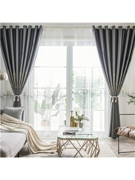 Modern White Embroidered Polyester Sheer Curtains for Living Room Bedroom Custom 2 Panels Breathable Voile Drapes No Pilling No Fading No off-lining