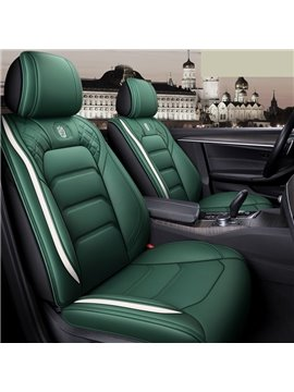 Sport Style 5 Seater Full Coverage Universal Fit Seat Covers High Quality Leather Material Wear Resistant and Durable (Ford Mustang and Chevrolet Camaro are Not Suitable)