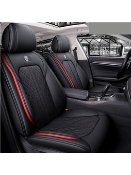 High Quality Leather Material Wear Resistant and Durable Simple Style 5 Seater Full Coverage Universal Fit Seat Covers  (Ford Mustang and Chevrolet Camaro are Not Suitable)