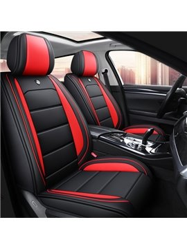 Full Coverage Simple Style 5 Seater Universal Fit Seat Covers High Quality Leather Material Wear Resistant and Durable (Ford Mustang and Chevrolet Camaro are Not Suitable)