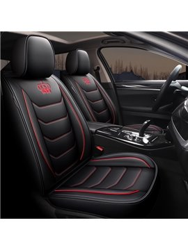 Simple Style 5 Seater Full Coverage Universal Fit Seat Covers High Quality Leather Material Wear Resistant and Durable (Ford Mustang and Chevrolet Camaro are Not Suitable)