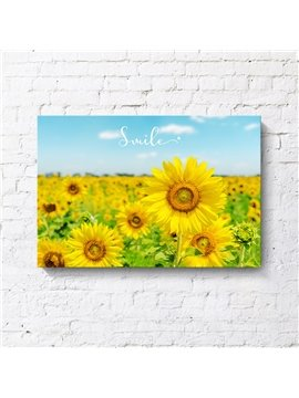 Modern Sunflowers Spray Painting Natural Scenery Decorative Print Wall Decorations