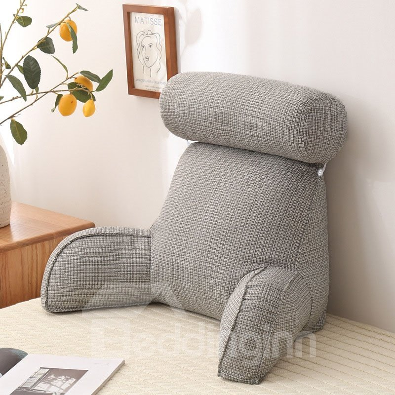 Reading Pillows with Arms Adjustable Memory Foam Bed Rest Chair Sitting Up Detach Neck Roll Removable Cover Reading Pillows with Arms Adjustable Memory Foam Bed Rest Chair Sitting Up Detach Neck Roll Removable Cover