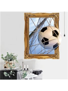 3D World Cup Football Waterproof Removable Self-adhesive Wall Stickers Room Decorations