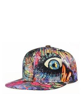 Colorful Graffiti Hip Hop Baseball Caps Adjustable Snapback Punk Rock Hat Breathable Anti UV Sun Outdoor Trucker Hats