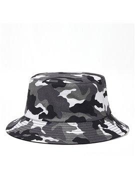 Lightweight Foldable Camouflage Bucket Hat Summer Outdoor Hiking Fisherman Hats Reversible Double-Side-Wear Sun Caps
