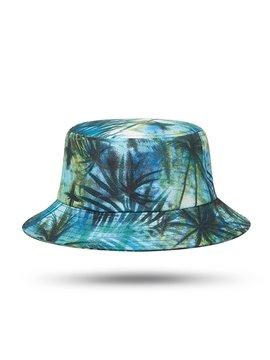 3D Coconut Tree Print Sun Bucket Hat Lightweight Fisherman Hats Summer UV Protection Travel Beach Sun Hat Outdoor Hiking Visor Caps