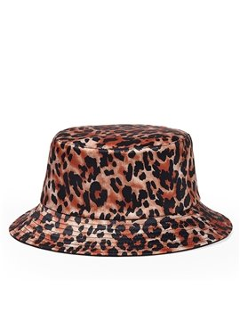 Leopard Reversible Bucket Hat Summer UV Protection Lightweight Packable Double-Side-Wear Outdoor Fisherman Hats Soft Summer Vacation Visor Caps